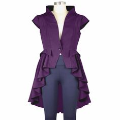 Purple Tail Vamp Victorian Waterfall Gothic Steampunk Jacket - Kilt and  Jacks. Kilt Jacks · Gothic Jackets - 100% Custom MADE dcb5d5f989e