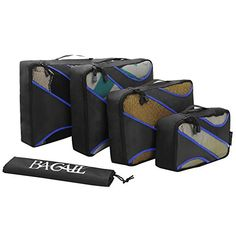 4 Set Packing Cubes,Travel Luggage Packing Organizers wit...