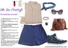 En route for summer! Love this summer chic style!  shirt and shorts available at www.ohsoprettyfashion.com