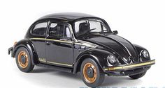 Whitebox 1:43 VW Beetle Diecast Model Car WHI036 This VW Beetle (1983) Diecast Model Car is Black and has working wheels and also comes in a display case. It is made by Whitebox and is 1:43 scale (approx. 9cm / 3.5in long). #Whitebox #ModelCar #VW