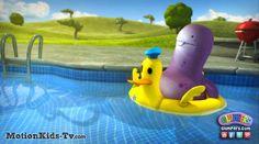 Una buena mañana en la piscina con su flotador - Imagenes de los Glumpers - Glumpers cartoon pictures