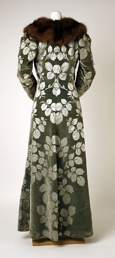 Evening coat House of Worth (French, 1858–1956) Designer: Charles Frederick Worth (French (born England), Bourne 1825–1895 Paris) Date: 1894