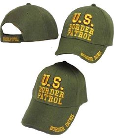 a2f3b7c7d75c2 Items similar to U.S. Border Patrol Green   Yellow Embroidered Cap Hat on  Etsy. Baseball HatsYellowEmbroidered ...