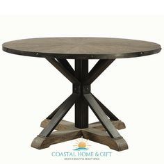 Creative dining room maximizes the beauty of #coastal interior. Durable and modern style #dining #table enriches the joy in dinner time.