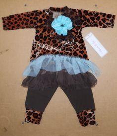 Bebe Mwah - Haute Baby Infant Girl legging set. Absolutely adorable!!