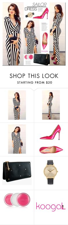 """""""Sailor dress"""" by mada-malureanu ❤ liked on Polyvore featuring Luciano Padovan, Dylan Kain, Nixon, Clinique, Sailor, stripes, Nautical, koogal and koogallove"""