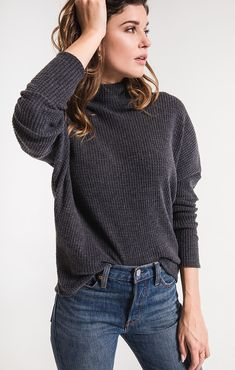 c9e03209fb2e23 The Mock Neck Waffle Thermal. Z SUPPLY