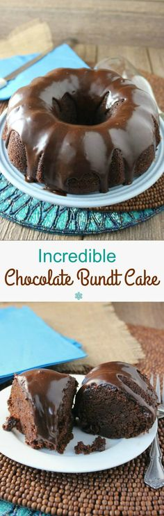 Incredible Chocolate Bundt Cake is easy but complex enough to make you feel as if you've created something very special. The outcome is superb. Check out the ingredients!  #LoveMySilk @LoveMySilk