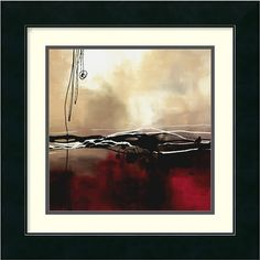 """0-009026>17x17"""" Laurie Maitland Symphony in Red and Khaki I Framed Print"""