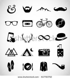 Hipser icon set vector  accessory , antlers , bag , beard , bicycle , bike , calligraphy , camera , camping , cassette , contemporary , design , diet , elegant , element , fashion , fashioned , gentleman , gentlemen , glasses , graphic , hat , hipster , icon , illustration , logo , modern , mustache , object , old , photo , pipe , record , retro , set , shoe , sir , smart-phone , style , suit , symbol , travel , triangle , vector , vegan , vintage , vinyl , web , wilderness ,