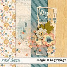 FREE Magic of Beginnings gorgeous backgrounds mini-kit by Amber Shaw: