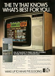 Oracle and Teletext: in the UK in the days before the web and the internet we could still read our news on two text to TV services. The papers were worried that they would be made obsolete. They needn't have worried: the horrible UI, low speed and lack of pictures meant it was no threat.