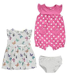 Carter's 2 Piece Romper and Dress Set 121g477, Butterfly,...