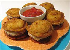 Toasted Ravioli Pizza Mini-Burgers