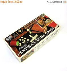 Hey, I found this really awesome Etsy listing at https://www.etsy.com/listing/128195272/scrabble-brand-sentence-cube-game-1971