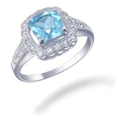 Sterling Silver Blue Topaz Ring (1.40 CT) ** Click on the image for additional details. (This is an affiliate link) #WomensJewelry
