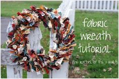 fabric wreath directions :}