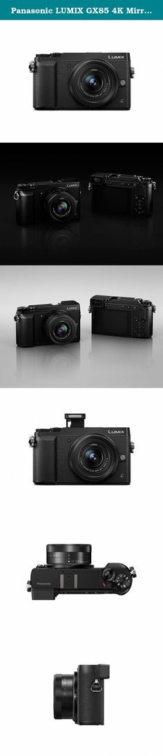 Panasonic LUMIX GX85 4K Mirrorless Interchangeable Lens Camera Kit, 12-32mm Lens, 16 Megapixels, Dual Image Stabilization, Electronic Viewfinder, WiFi - Black (Certified Refurbished). For today's interchangeable lens camera enthusiasts - or anyone looking for a lighter, newer more intelligent alternative to bulky DSLRs - Panasonic LUMIX Mirrorless Micro Four Thirds system cameras deliver impressive, no-compromise performance. Nearly half the size of most DSLRs, the DMC-GX85 delivers...