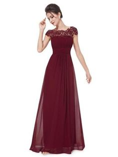 KATIE Dress - Burgundy Wine - Belle Boutique UK