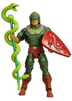 King Hssss, Dreadful Disguised Leader of the Snake Men. From Masters of the Universe Classics available at MattyCollector.com. #toys $22
