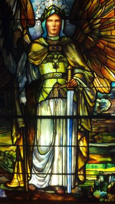 Tiffany stained glass creation, Carlson building, Chicago