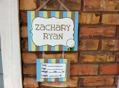 Golf themed baby boy nursery, hospital door hanger, baby sign, hospital door decoration  on Etsy, $30.00