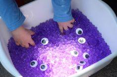 This was a monster sensory tub but she said these water beads are way fun for the kids to put their fingers in!