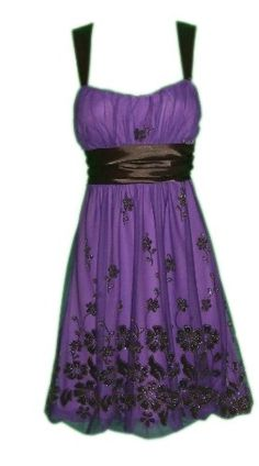 Purple and black dress from LI'L BLACK DRESS® Evening Cocktail Party Formal PAYTON Dress