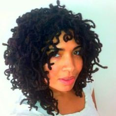 locs styles | Curly locs | Natural hair Styles