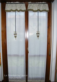 Shabby style glass curtain | Pinterest | Shabby, Tenda e Tende