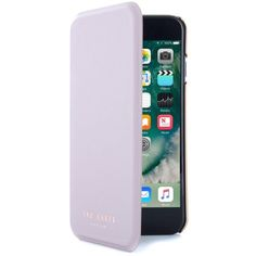 Women's Ted Baker London Shannon Iphone 7 & 7 Plus Mirror Folio Case ($50) ❤ liked on Polyvore featuring accessories, tech accessories, light purple, ted baker, iphone mirror case, metallic iphone case, ted baker iphone case and iphone cover case