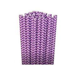 pailles a chevrons violettes