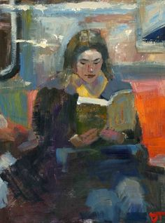 ARTFINDER: Surround by Darren Thompson - Surround is part of a series of depicting the female figure reading. I use subdued colors and loose brush strokes, as in most of my paintings, in order to cr...