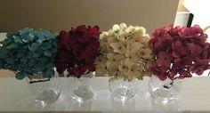 Set of 2 Hanging Mason Jar Sconces Hydrangea by LisaMarieDS