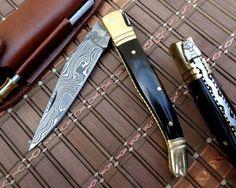 "Amazon.com : *DKC-62 BLACK PRINCE Damascus Folding Laguiole Pocket Knife 4"" Folded 7.25"" Long 2.3oz oz High Class DKC Knives TM : Sports & Outdoors"