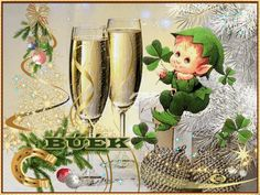 BÚÉK képeim... Happy New Year, Animals And Pets, Farmer, Alcoholic Drinks, Champagne, Merry Christmas, Table Decorations, Flowers, Halloween