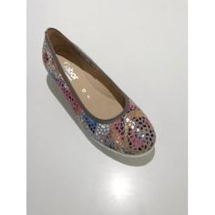 Gabor Ladies Epworth Stone Nubuck Comfort Fit Wedge with Multicoloured Floral Detail Gabor Exquisite Shoes Chanel Ballet Flats, Wedges, Stone, Detail, Lady, Floral, Women, Fashion, Moda