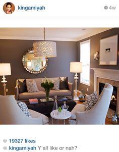 Greige livingroom idea