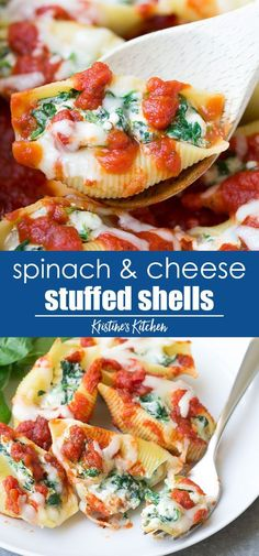 You Have Meals Poisoning More Normally Than You're Thinking That Easy Spinach And Cheese Stuffed Shells Recipe With Four Cheeses, Including Ricotta. This Stuffed Shells Recipe Is One Of Our Favorite Make Ahead Freezer Meals Easy Stuffed Shells, Spinach Stuffed Shells, Stuffed Shells Recipe, Italian Stuffed Shells, Stuffed Shells With Cheese, Stuffed Pasta Recipes, Healthy Stuffed Shells, Meatless Pasta Recipes, Easy Dinner Recipes
