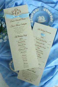 Wedding Program (Kate) $155 for 150