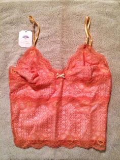 made in #USA #sexy #feminine #orange cami from #Leigh Bantivoglio #french lace