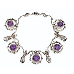Amethyst and Diamond Necklace, circa 1900. Belonged to Her Majesty The Late Queen Alexandra.