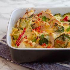 Kylling i form med grønnsaker Quiche, Cabbage, Food And Drink, Cooking Recipes, Keto, Pasta, Dinner, Vegetables, Breakfast