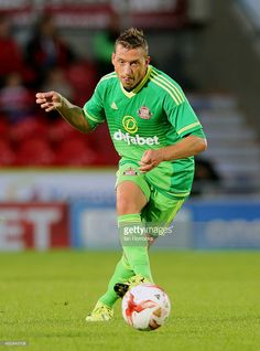 Emanuele Giaccherini of Sunderland during a Pre-Season friendly match between Doncaster Rovers and Sunderland AFC at the Keepmoat Stadium on July 29, 2015 in Doncaster, United Kingdom.