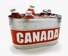 Canada Day Drink Tub- ideas for other themes. Canada Day 150, Happy Canada Day, O Canada, Dominion Day, Cottage Party, Canada Day Party, Canadian Holidays, Party Drinks Alcohol, Beverage Tub