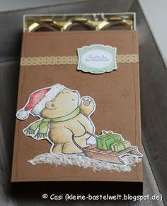 Kerstin's kleine Bastelwelt: Weihnachtsmarkt-Countdown: Toffifee-Boxen
