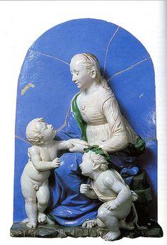 Girolamo o Luca della Robbia il giovane da Raffaello La bella Giardiniera (Louvre) - Madonna 1515  #TuscanyAgriturismoGiratola