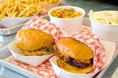 go fast-casual in the East Village National Fried Chicken Day, Chicken To Go, Blue Ribbon, Holiday Recipes, Hamburger, Fries, Nyc, East Village, Ethnic Recipes