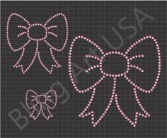 Bow Template, Templates, Cheer Spirit, Bling Shirts, Rhinestone Bow, Bow Design, Cheer Bows, String Art, Design Elements