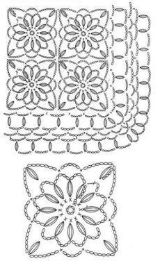 Crochet Wool, Crochet Blocks, Freeform Crochet, Crochet Art, Crochet Squares, Love Crochet, Irish Crochet, Crochet Flowers, Crochet Motif Patterns